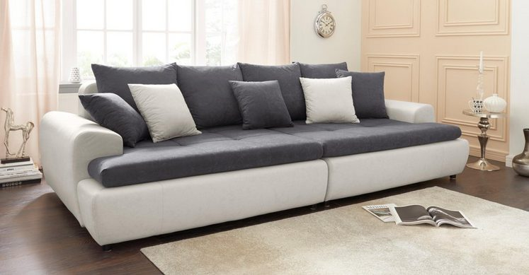COLLECTION AB Big-Sofa, inklusive loser Zier- und Rückenkissen