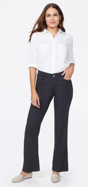Hosen - NYDJ Trouser »in Stretch Linen« › schwarz  - Onlineshop OTTO