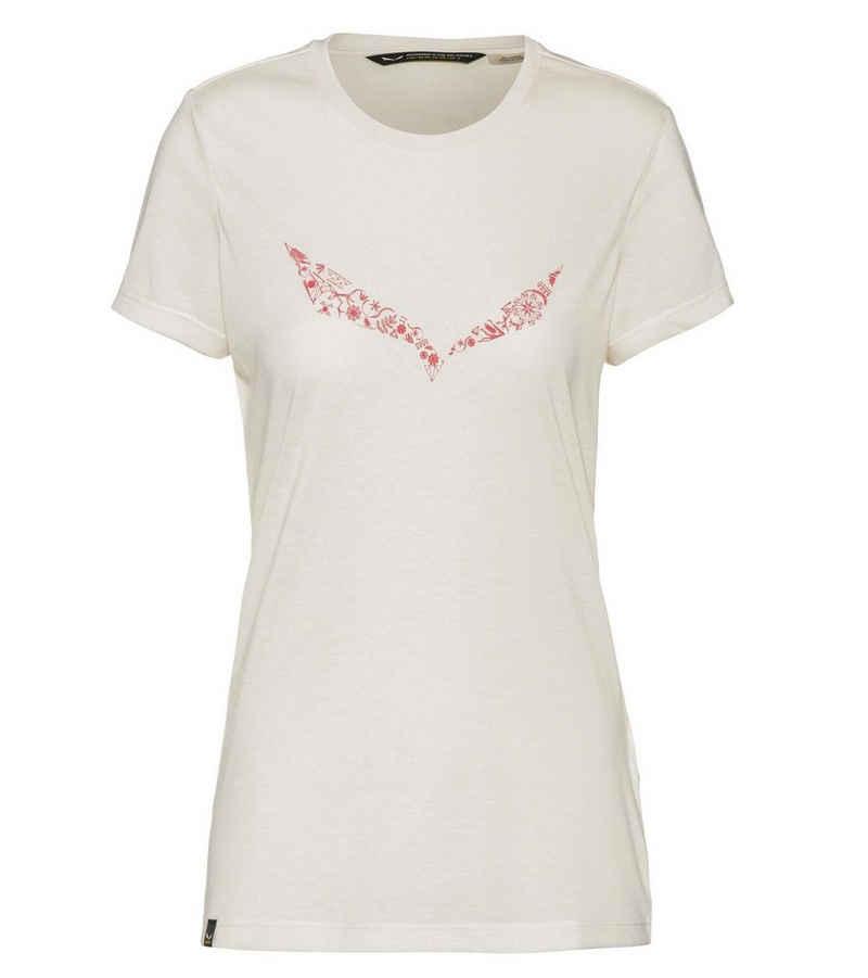 Salewa T-Shirt »SALEWA Solid DRI-Release T-Shirt weiches Damen Shirt für Outdooraktivitäten Freizeit-Shirt Weiß«