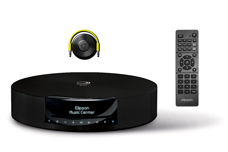 Elipson Stereo Verstärker, FM & DAB Radio, CD MP3, Multiroom »Music Center BT HD, Chrome Cast«