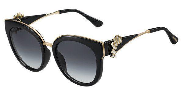 JIMMY CHOO Jimmy Choo Damen Sonnenbrille » JADE/S«, schwarz, 1A5/9O - schwarz/grau