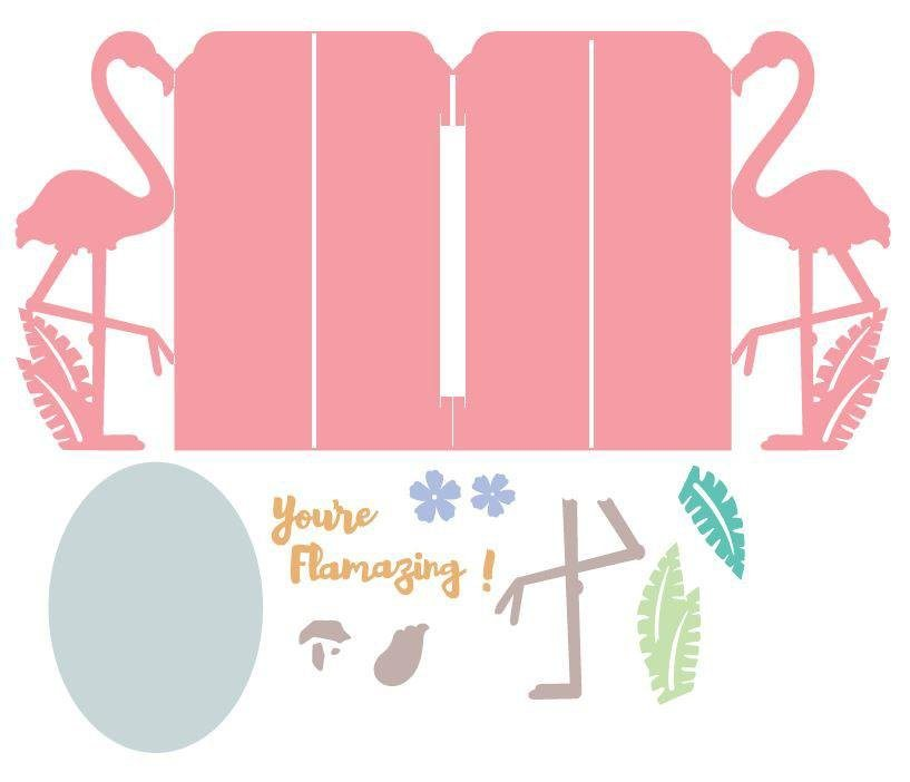 "Sizzix Thinlits Stanzschablone ""Card, Flamingo Fold-a-Long by Jen Long"" online kaufen"