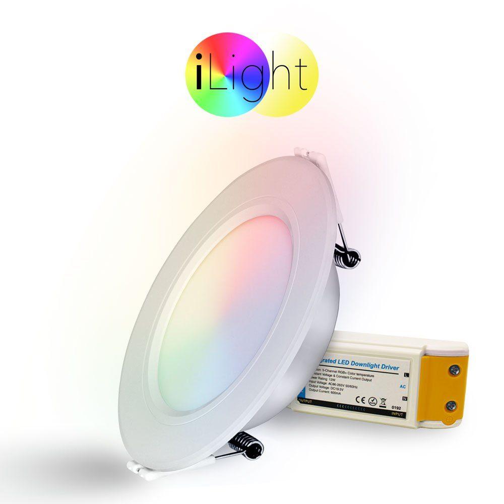 s.LUCE Einbauleuchte »s.LUCE LED iLight Ø12cm 600lm RGB + CCT«