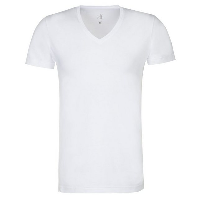 jacques britt -  T-Shirt »Slim Fit« Kurzarm V-Neck Uni