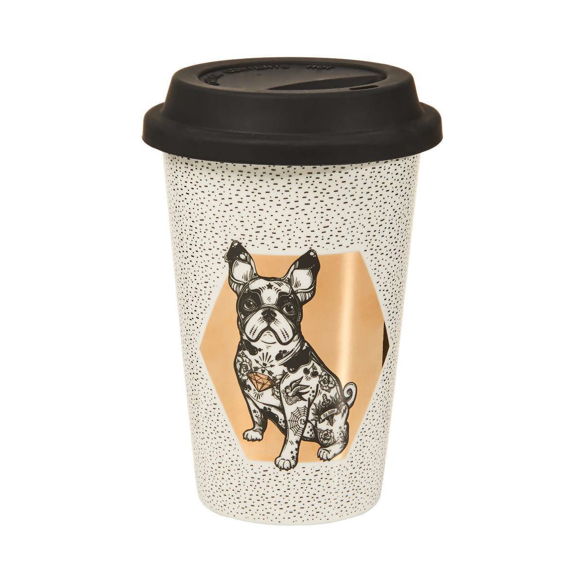 BUTLERS COFFEE DELUXE »Kaffeebecher To Go Bulldogge 400 ml«