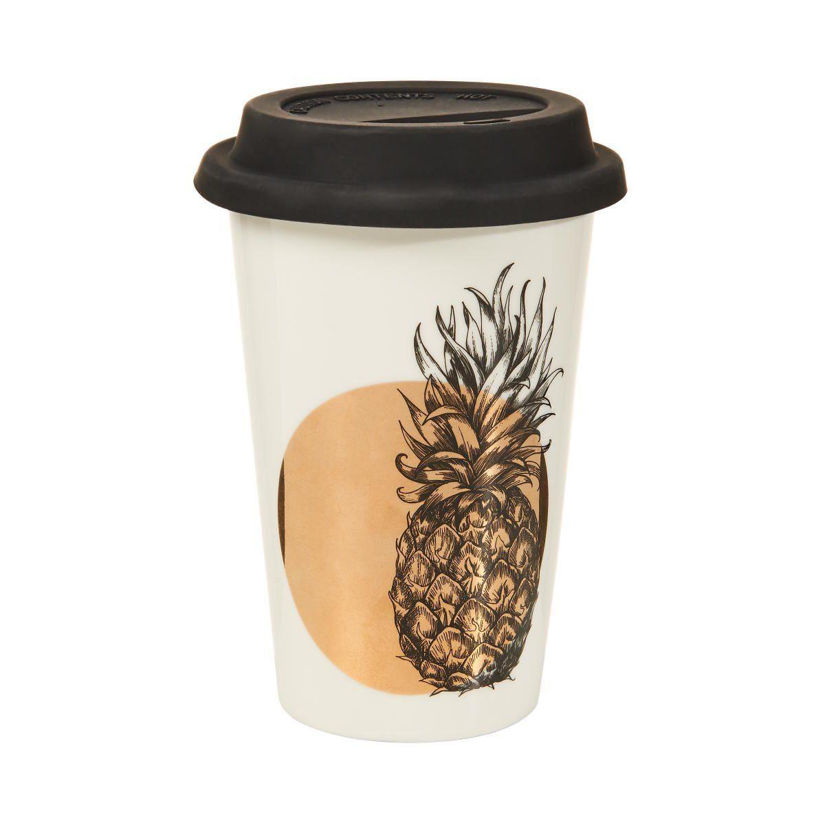 BUTLERS COFFEE DELUXE »Kaffeebecher To Go Ananas 400 ml«