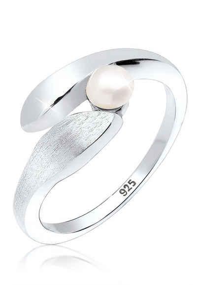 Elli Perlenring »Wickelring Süßwasserzuchtperle 925 Silber«