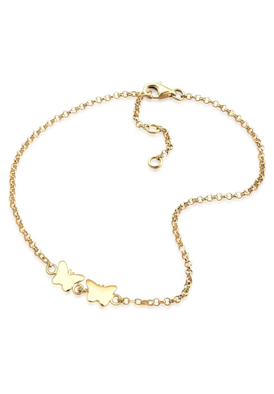 GOLDHIMMEL Fußkette »Schmetterling 925 Sterling Silber«