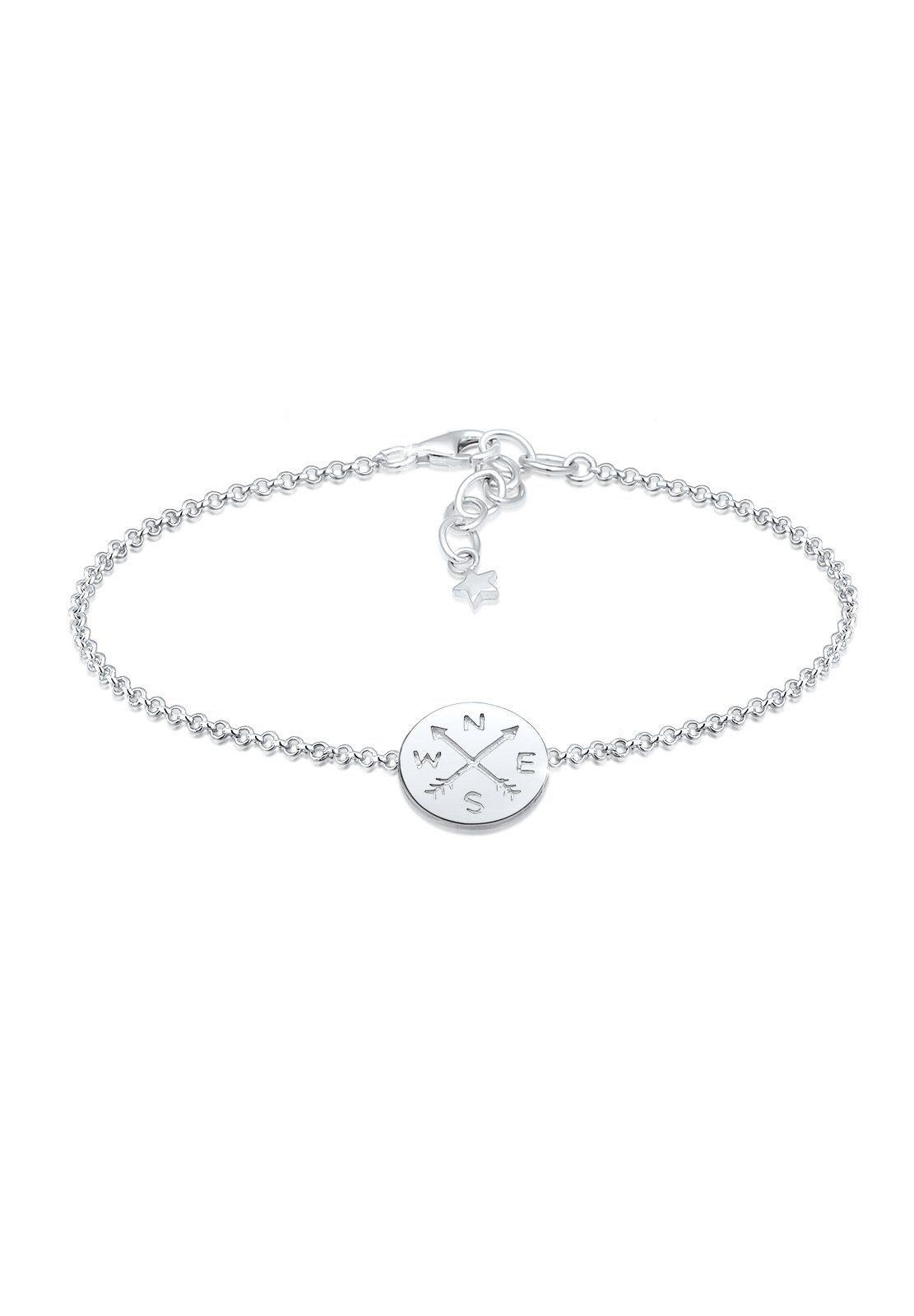 Elli Armband »Kompass Wanderlust Reise Trend 925 Sterling Silber«