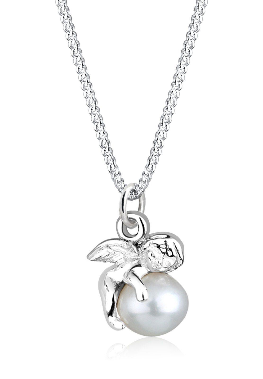PERLU Perlenkette »Engel Süßwasserperle 925 Sterling Silber«