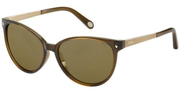 Fossil Damen Sonnenbrille » FOS 3007/S«, schwarz, BMB/Y7 - schwarz/grau