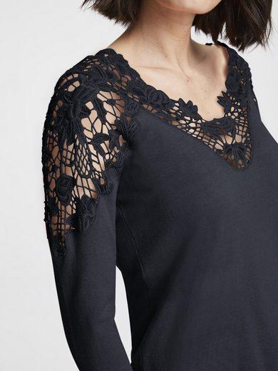 Pullover mit transparenter Spitze