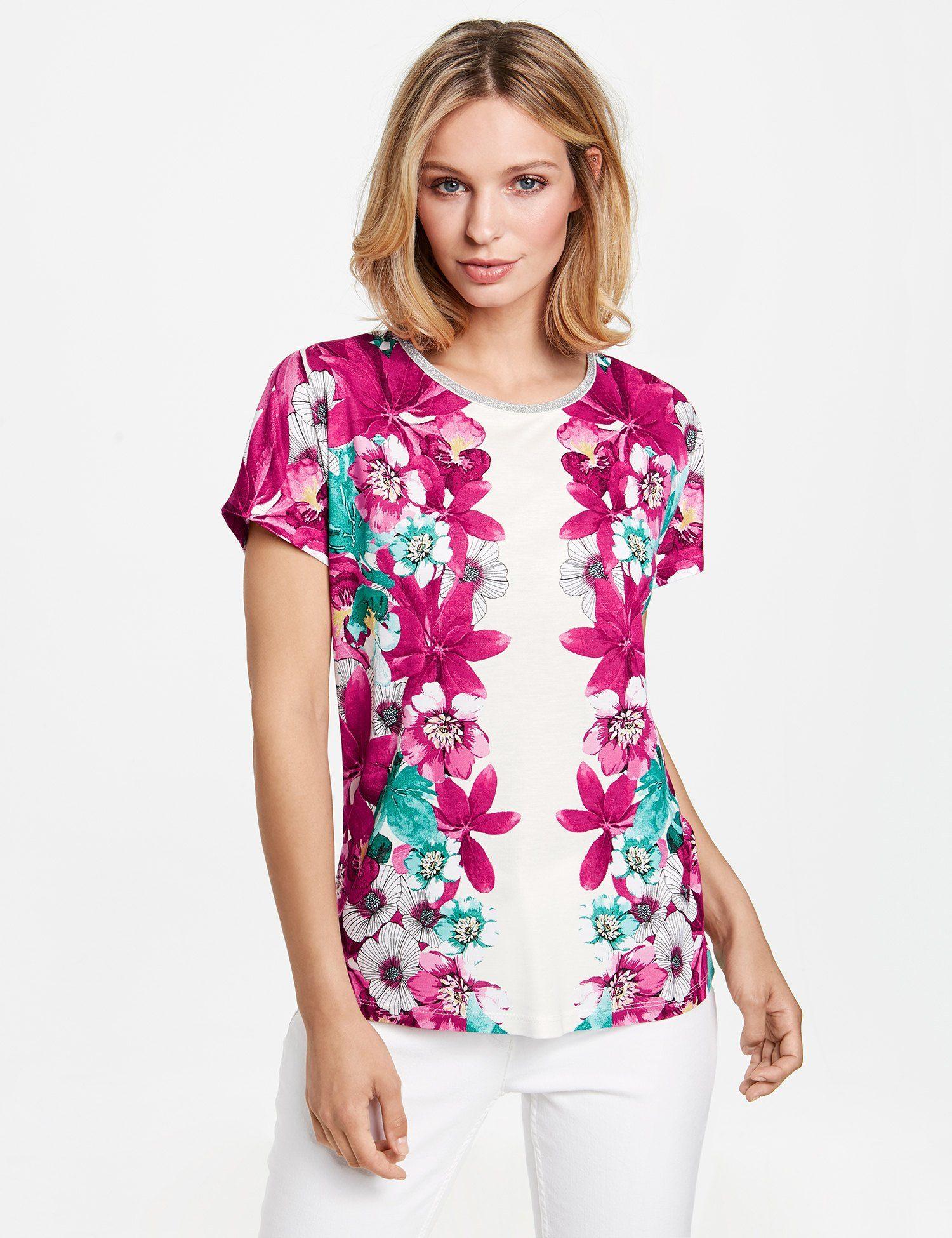 1/2 Arm Shirt mit Mustermix Lila-Pink Damen Gerry Weber mc9ma