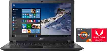 Acer A315-41-R0BA Notebook (39,62 cm/15,6 Zoll, AMD Ryzen 3, 1000 GB HDD, inkl. Office 365 Personal (ESD)