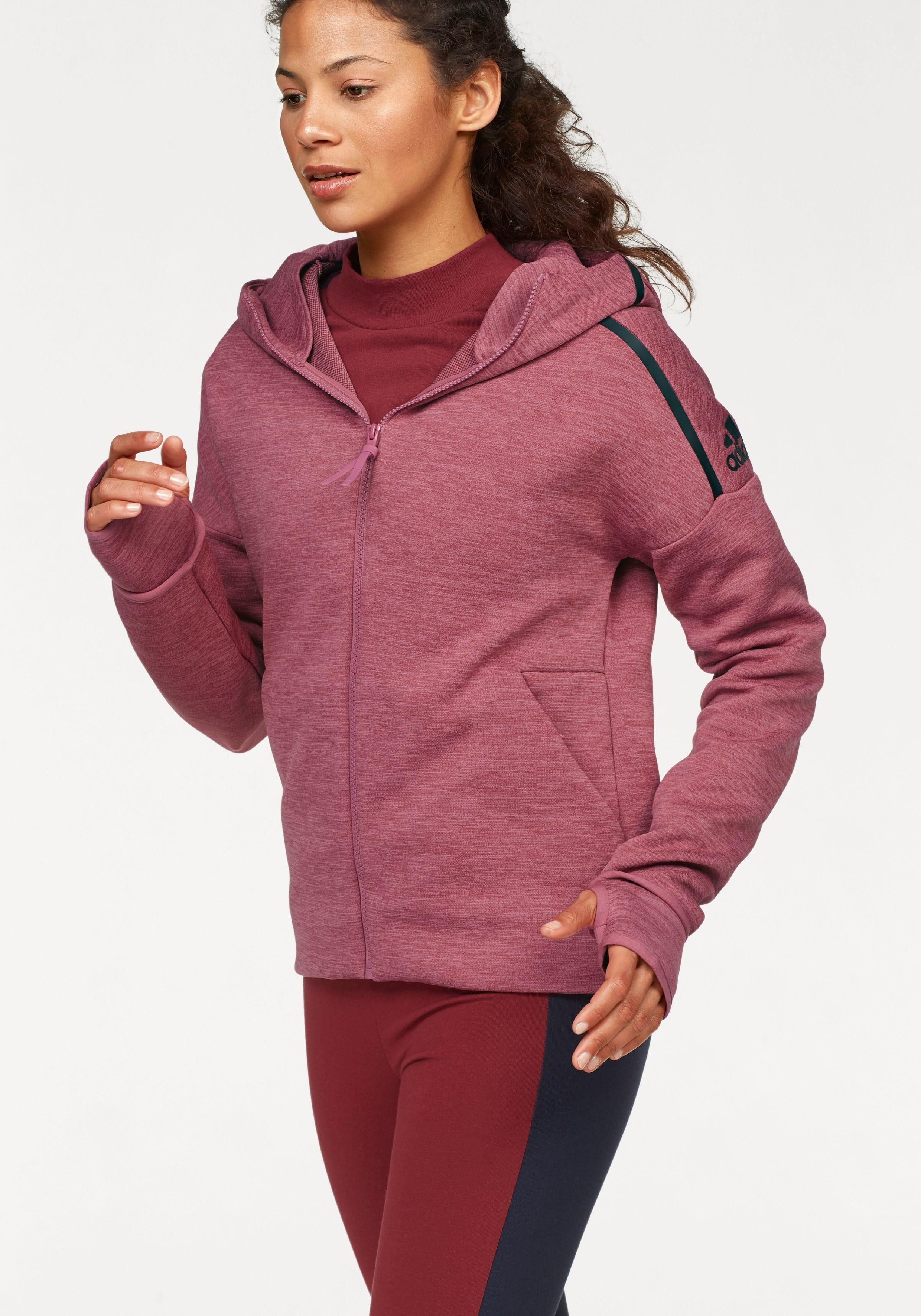 adidas Performance Trainingsjacke »WOMEN Z.N.E. FAST RELEASE HOODIE« auch in großen Größen online kaufen | OTTO