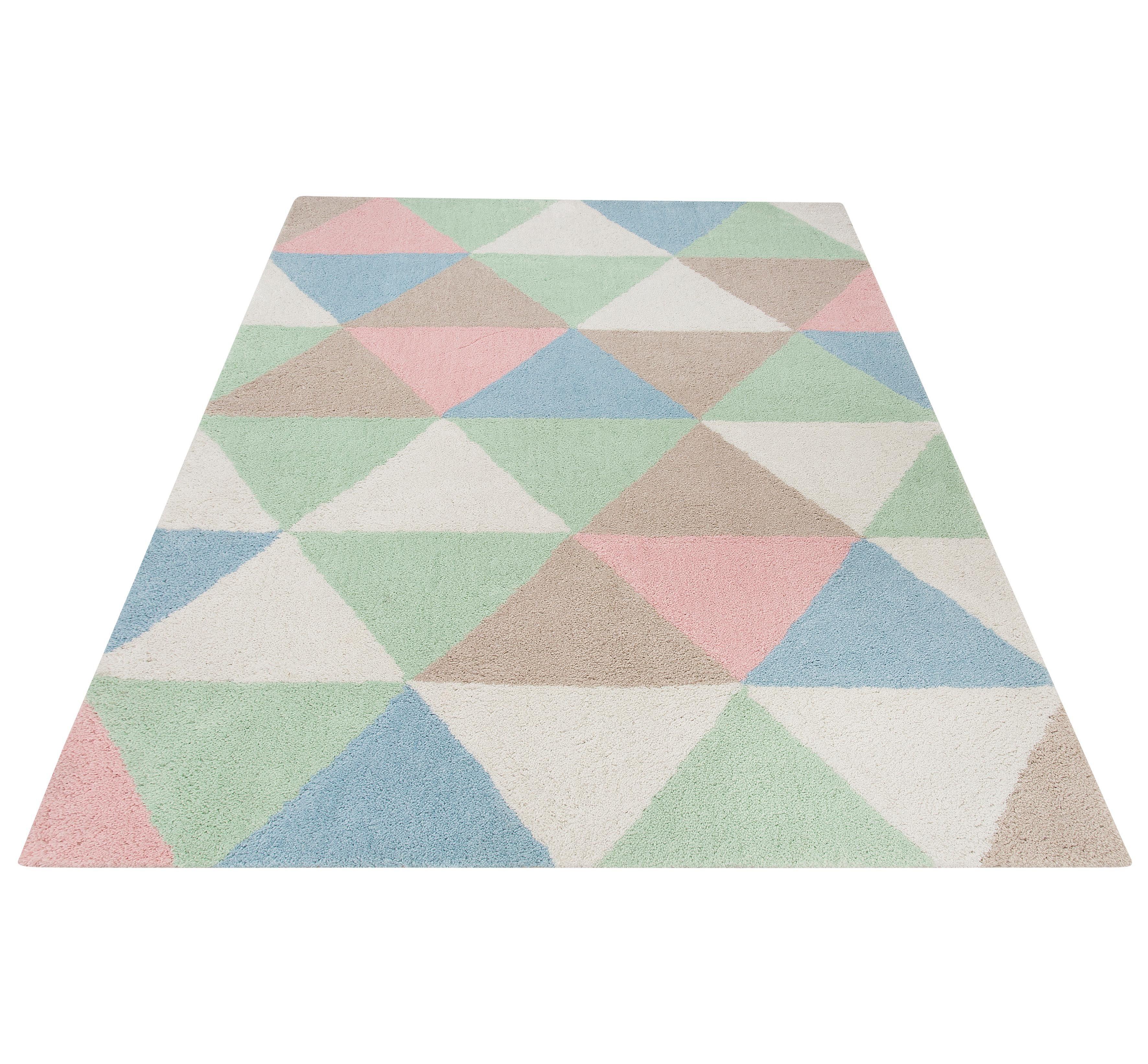 Teppich »Lester«, my home, rechteckig, Höhe 20 mm, Pastellfarben