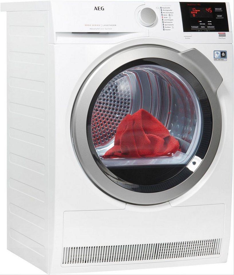 aeg w rmepumpentrockner 8000 lavatherm t8dba3 8 kg online kaufen otto. Black Bedroom Furniture Sets. Home Design Ideas