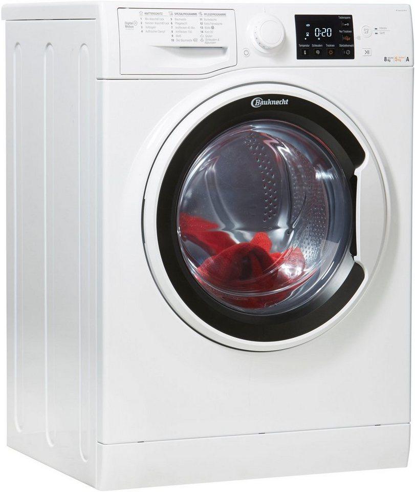BAUKNECHT Waschtrockner 8 kg / 5 kg, 1400 U/Min