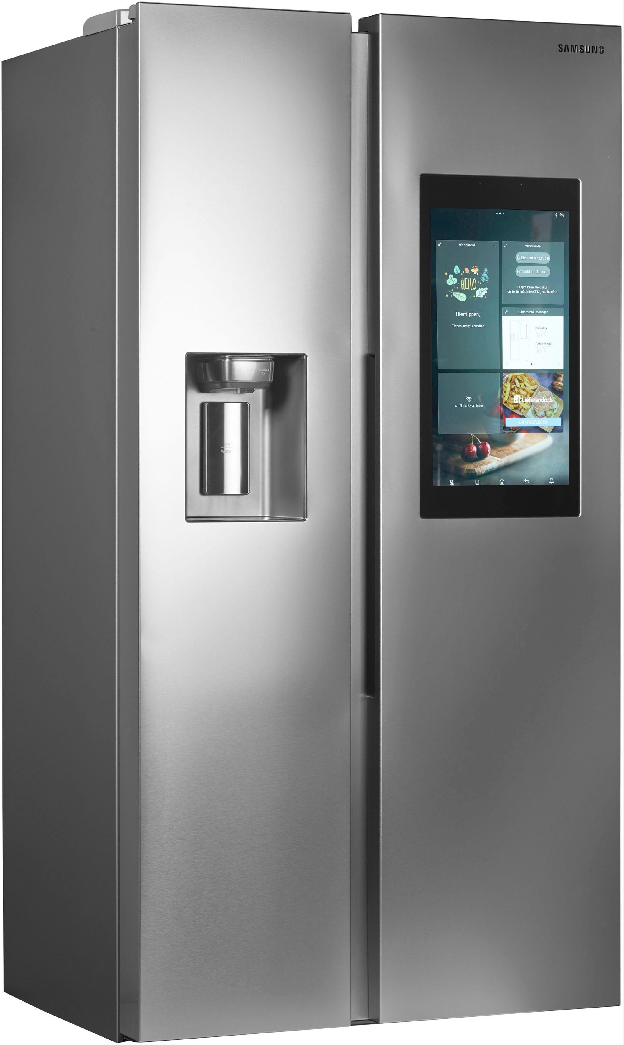Samsung Side-by-Side RS8000 RS68N8941SL/EF, 178 cm hoch, 91,2 cm breit, Family Hub – Display im Kühlschrank