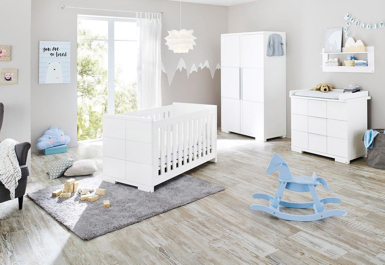 Pinolino Babyzimmer-Set (3-tlg.), Kinderzimmer, »Polar breit«