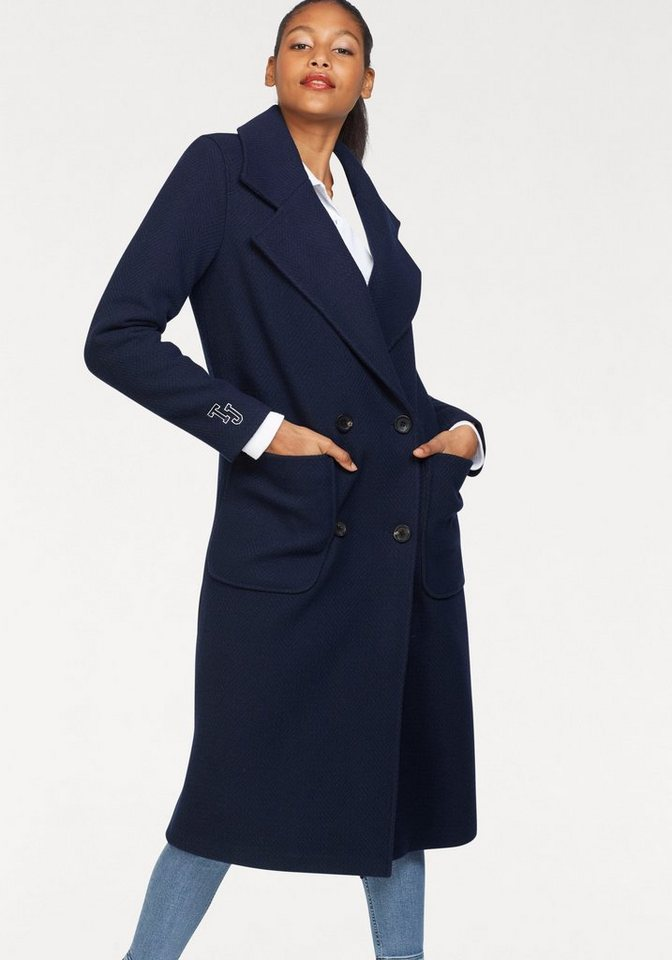 Damen TOMMY JEANS  Wintermantel in leicht strukturierter Ware blau | 08719704457424