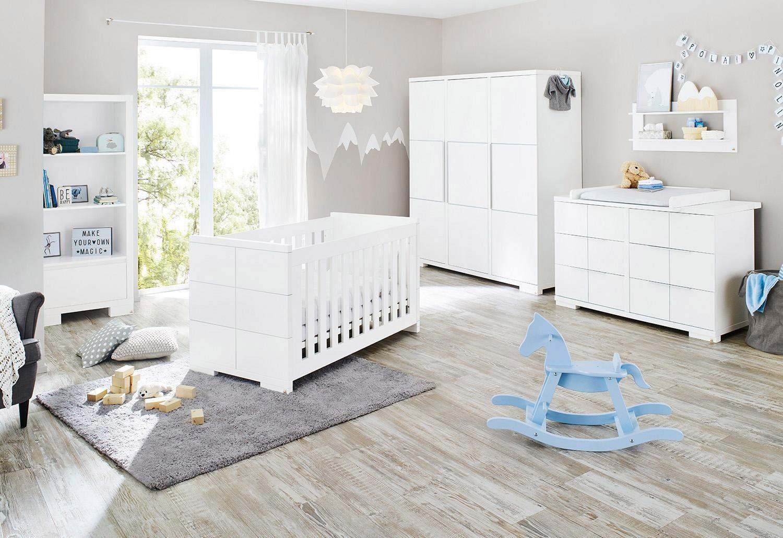 Pinolino Babyzimmer-Set (3-tlg.), Kinderzimmer, »Polar extrabreit groß«