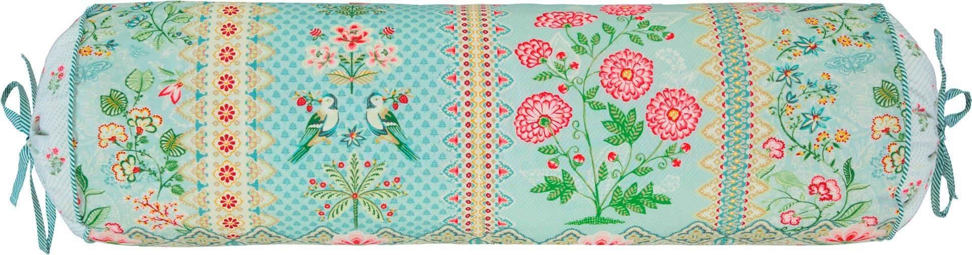 Dekokissen »Darjeeling«, , mit Blumen und Vögeln