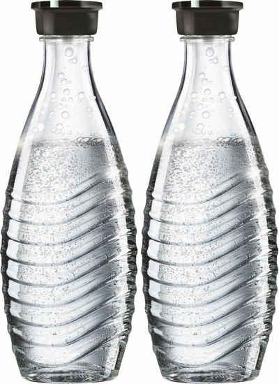 SodaStream Wassersprudler Flasche, (Set, 2-tlg), passend für die SodaStream Modelle Crystal und Penguin