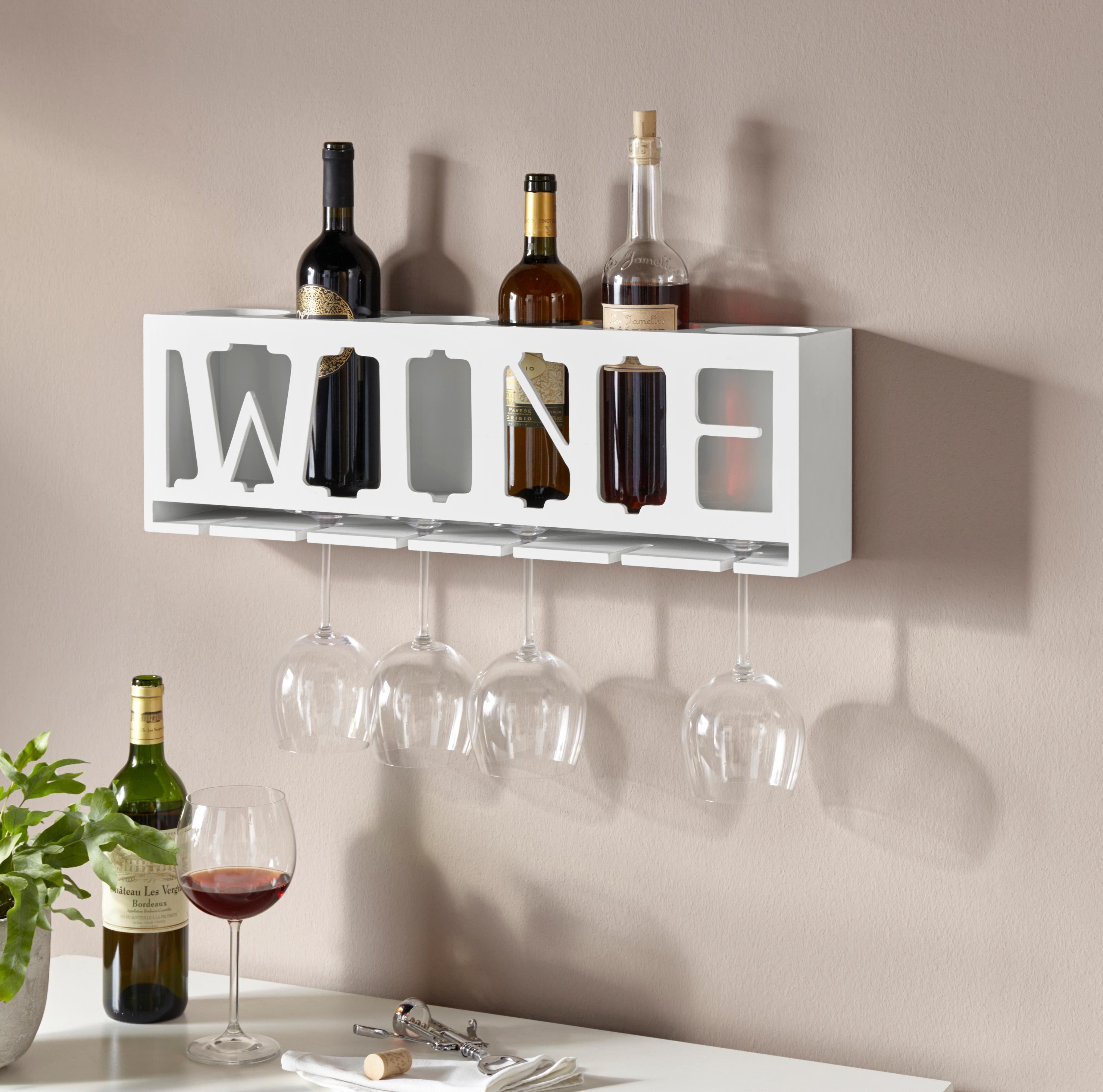 Home affaire Weinhalter »Wine« für die Wand mit Aufhängung für Gläser