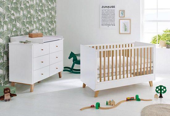 Pinolino® Babymöbel-Set »Pan«, (Spar-Set, 2-tlg), extrabreit; Made in Europe