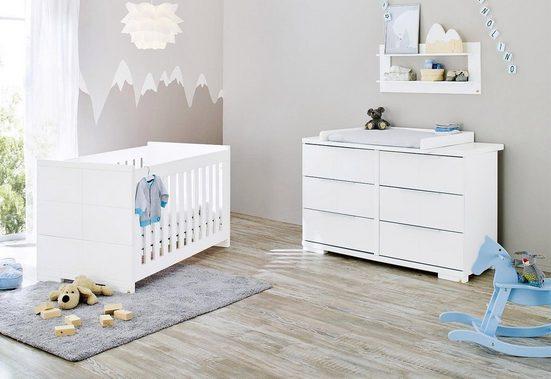 Pinolino® Babymöbel-Set »Polar«, (Spar-Set, 2-St), extrabreit; mit Kinderbett und Wickelkommode