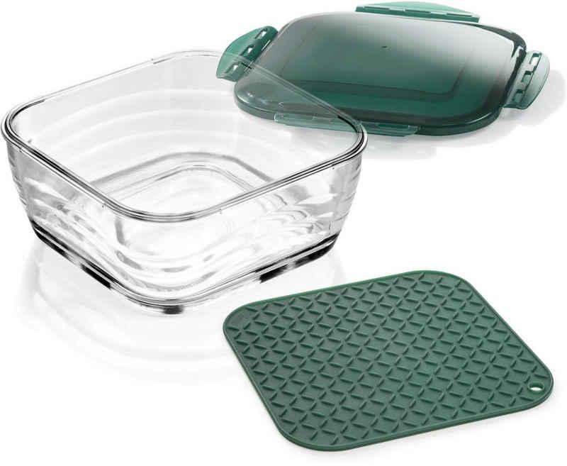 Genius Aufbewahrungsschüssel, Glas, (Set, 3-tlg)