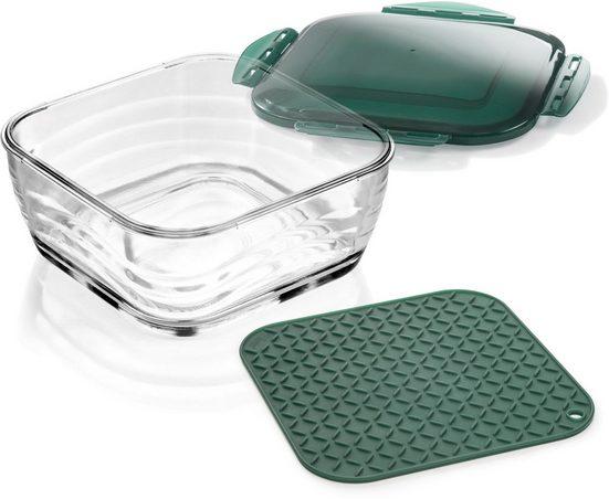 Genius Aufbewahrungsbox, Glas, (Set, 3-tlg)