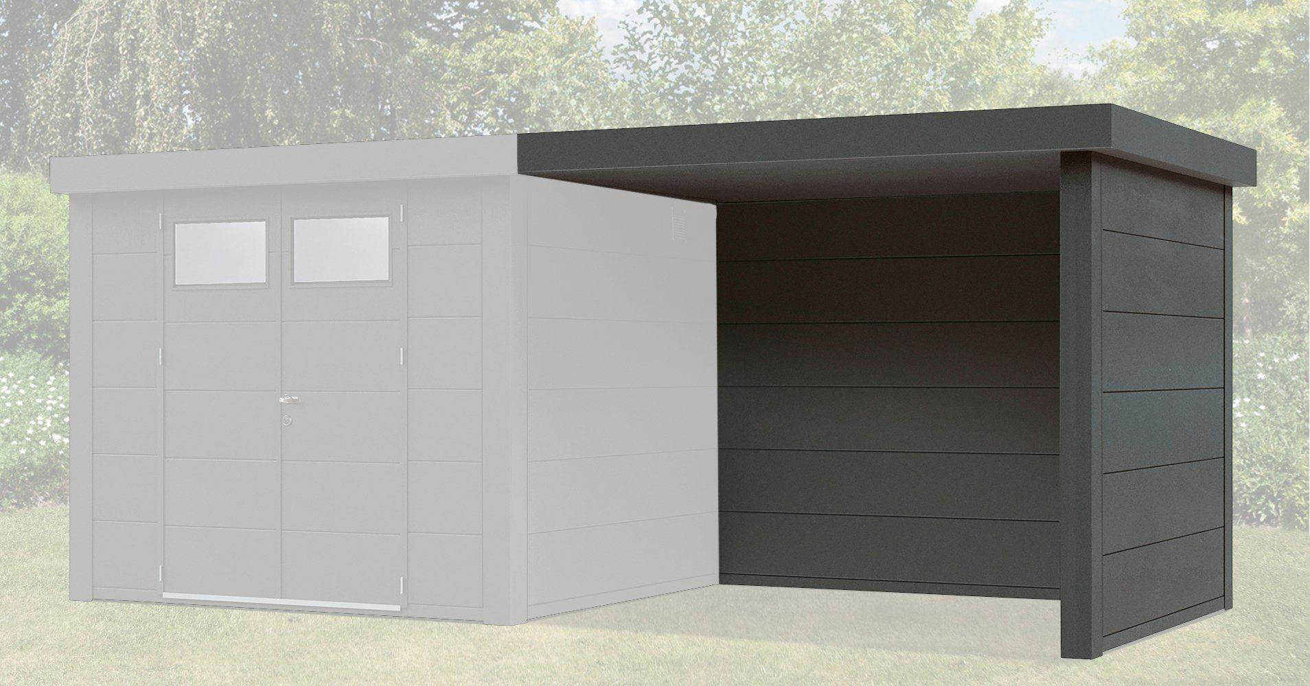 WOLFF Anbau »Lounge anthrazit«, für Stahlgerätehaus »Eleganto 2424« und »Eleganto 3024« | Garten > Gerätehäuser | Wolff