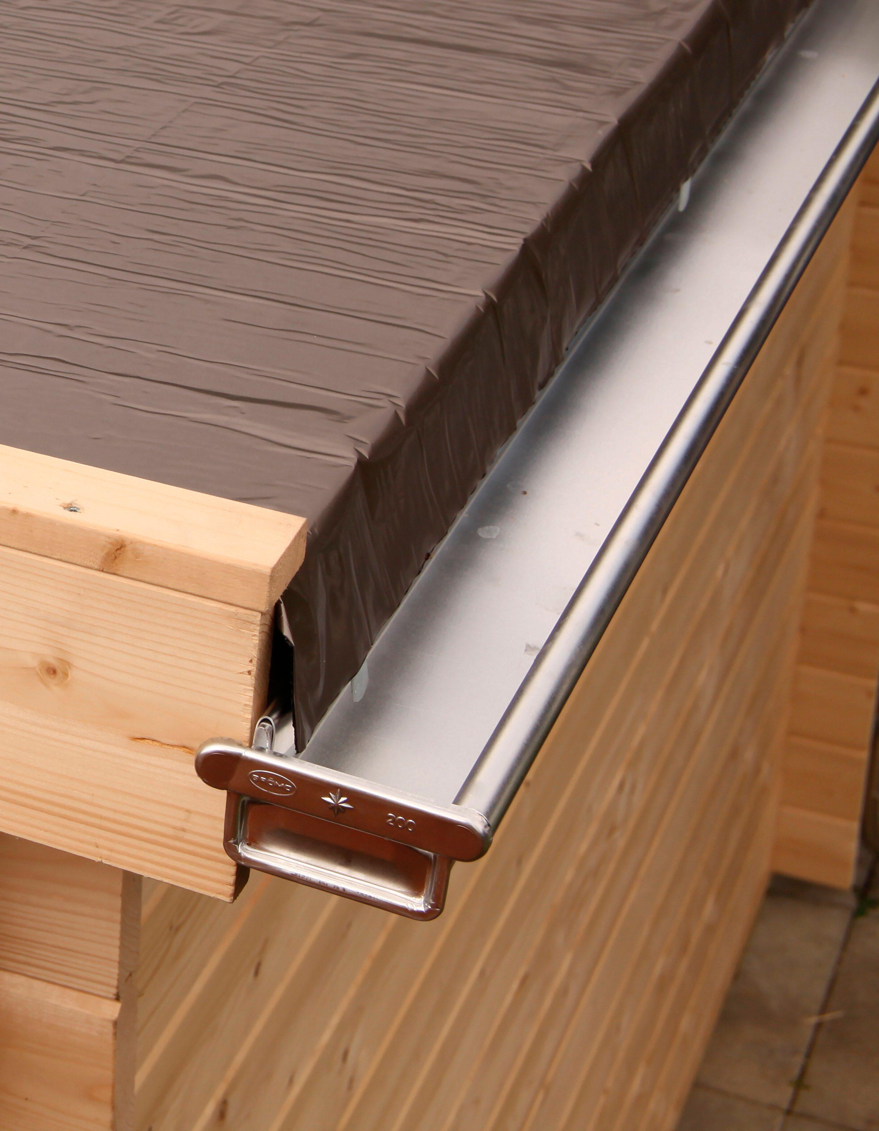 WOLFF Dachrinne , Alu, für Flach- und Pultdach bis 400 cm