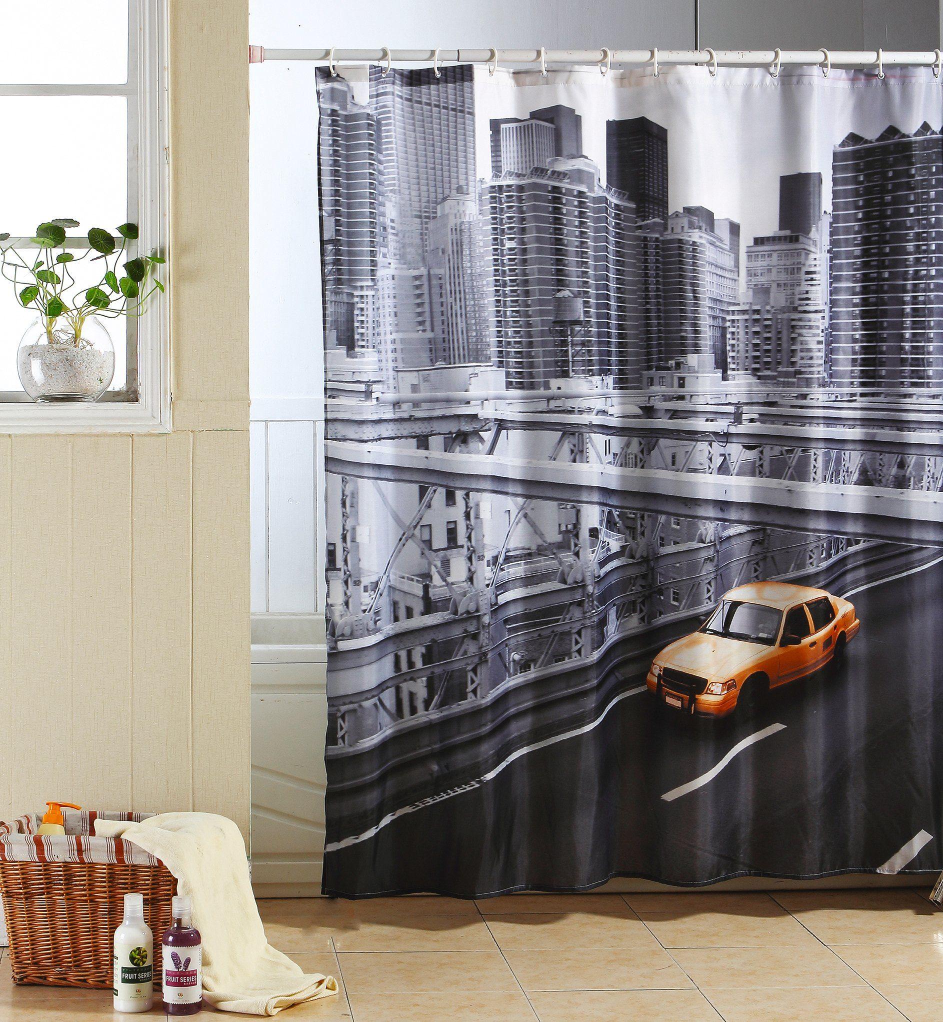 MSV Duschvorhang »NEW YORK«, Breite 180 cm