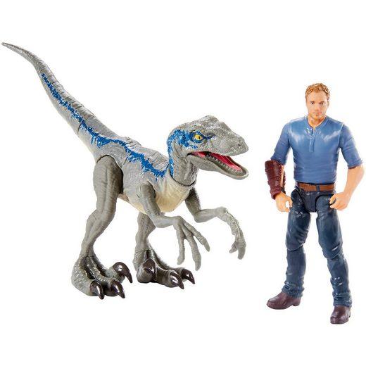 """Mattel® Jurassic World Story Pack Owen & Velociraptor """"Blue"""""""