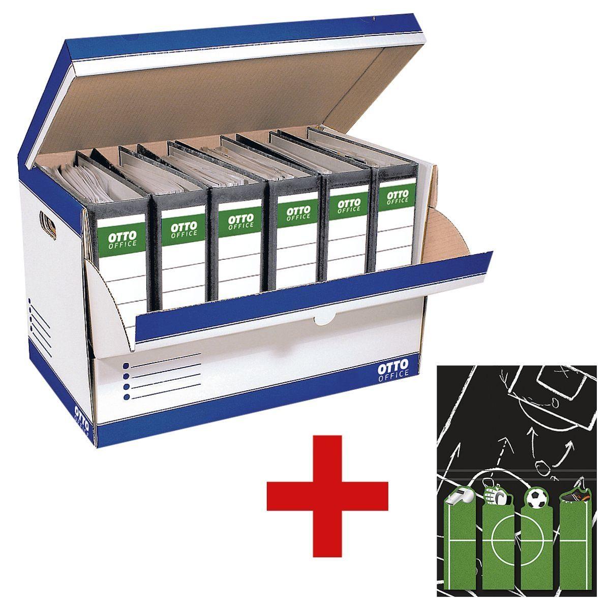 OTTOOFFICE STANDARD Ordner-Container inkl. Markierstreifen 1 Set