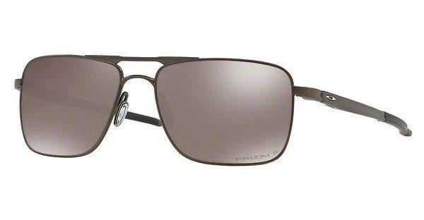 Oakley Herren Sonnenbrille »GAUGE 6 OO6038«, schwarz, 603804 - schwarz/rot