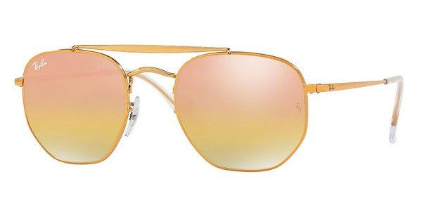 RAY BAN RAY-BAN Herren Sonnenbrille »THE MARSHAL RB3648«, braun, 9001I1 - braun/gold