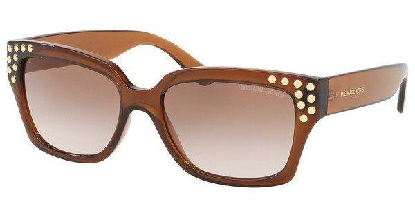 MICHAEL KORS Michael Kors Damen Sonnenbrille »BANFF MK2066«, schwarz, 3009T5 - schwarz/braun