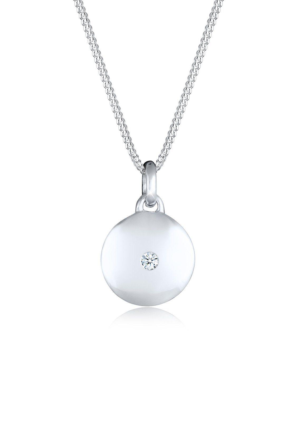 Diamore Collierkettchen »Kreis Diamant 925 Sterling Silber«