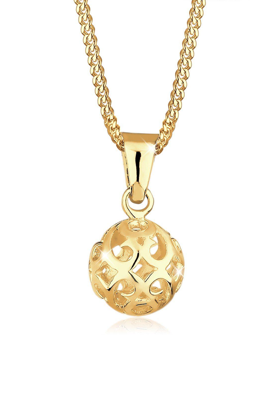 GOLDHIMMEL Collierkettchen »Kugel Ornament 925 Sterling Silber vergoldet«
