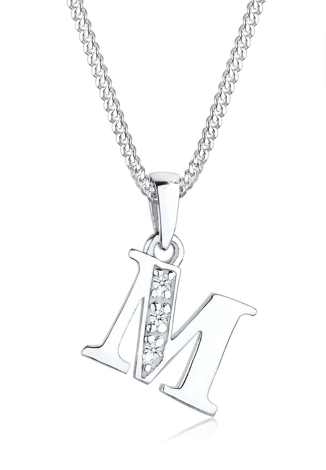 Diamore Collierkettchen »Buchstabe M Diamant (0.06 ct) 925 Sterling Silber«