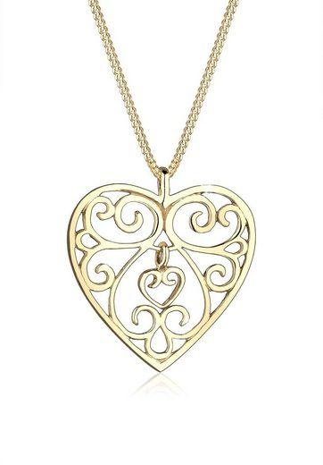 Elli Collierkettchen »Herz Ornament 925 Sterling Silber«