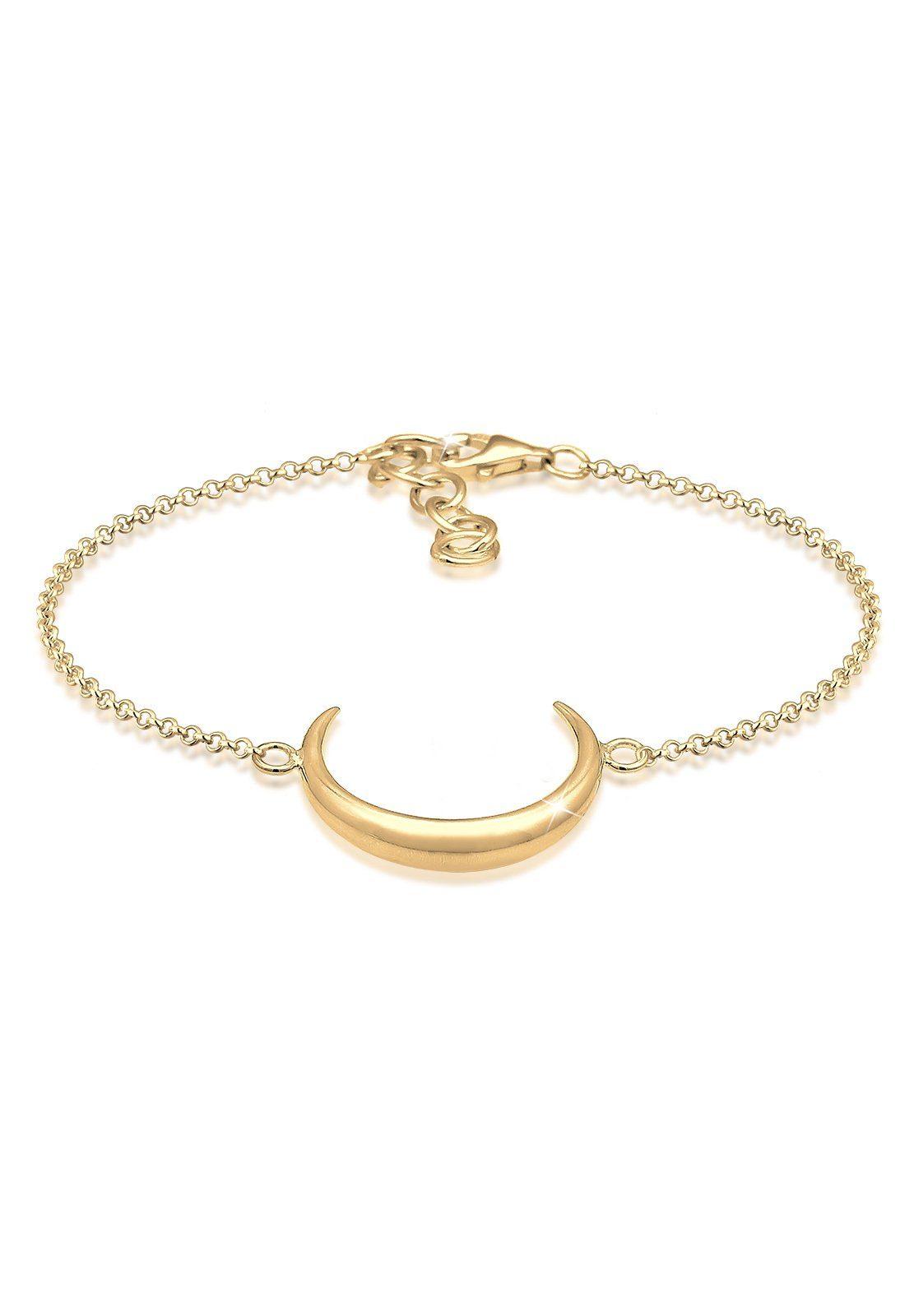Elli Armband »Halbmond Astro Luna 925 Sterling Silber«