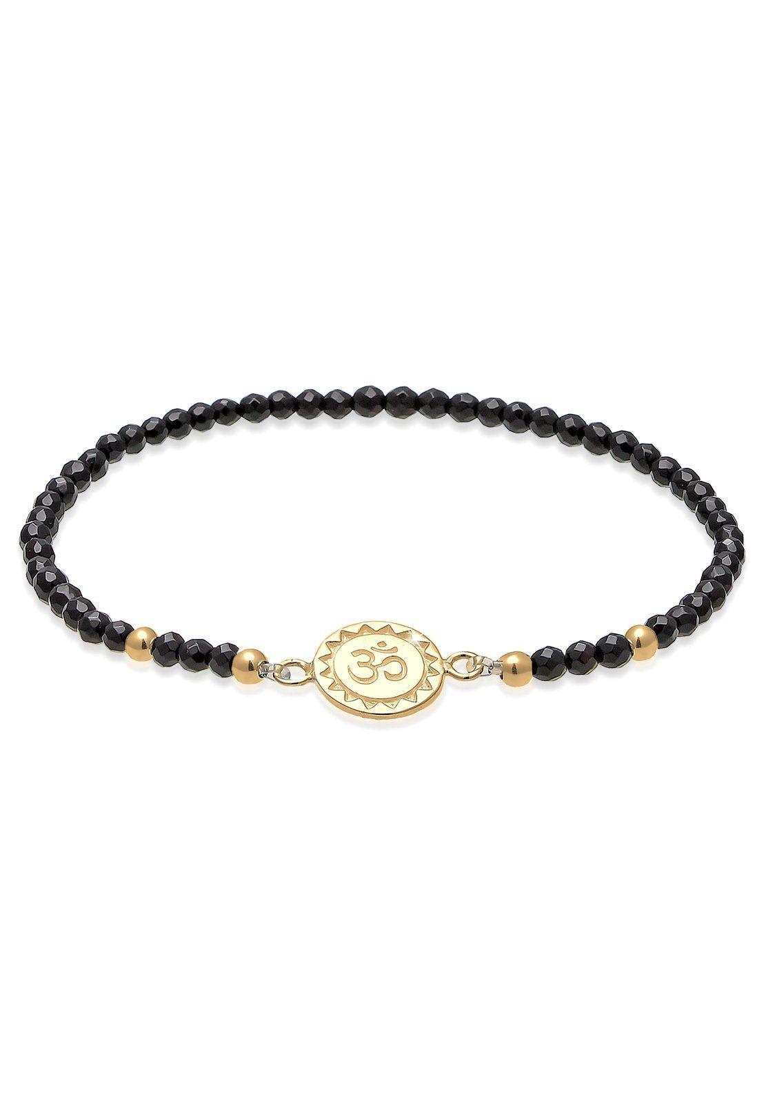 Elli Armband »Om Kraftsymbol Onyx Edelstein 925 Silber«