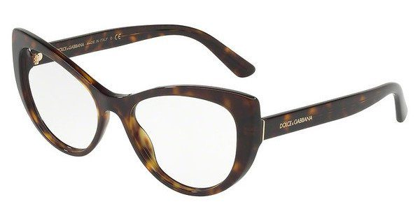 DOLCE & GABBANA Dolce & Gabbana Damen Brille » DG3285«, braun, 502 - braun