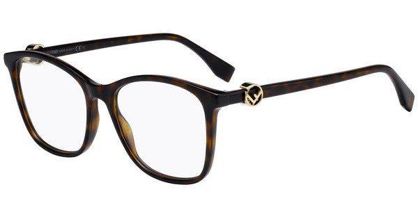 FENDI Fendi Damen Brille » FF 0309«, schwarz, 807 - schwarz