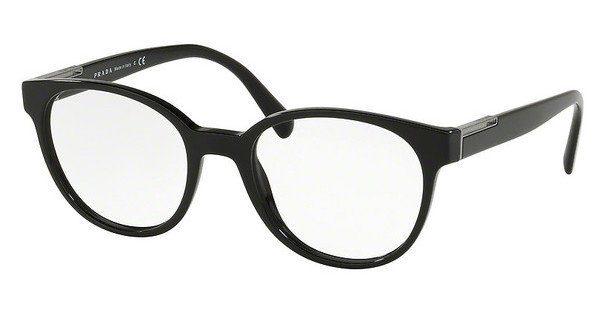 PRADA Prada Herren Brille » PR 10UV«, schwarz, 1AB1O1 - schwarz